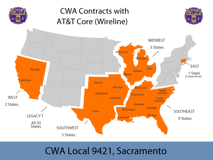 CWA Contracts with ATT Core