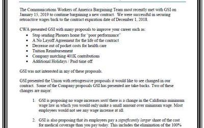 GSI Bargaining bulletin #1